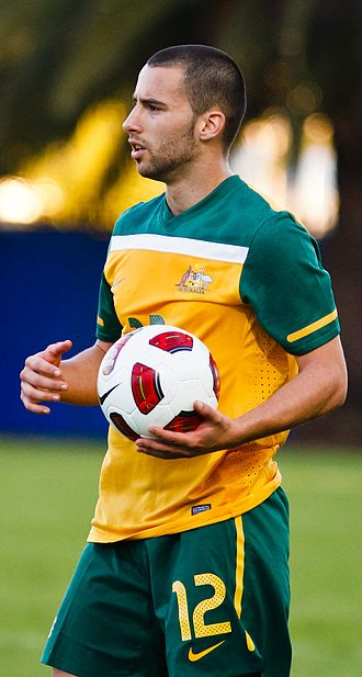 Marko Jesic - Ješić playing for the Olyroos in 2011
