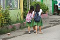 On the streets of Talisay in Cebu of August 2017 - two shool girls.jpg