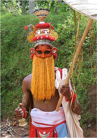 Mahabali - Onappottan, a symbolic representation of King Bali. Onappottan visits houses during the onam and gives blessings. Of late onappottan has become a rare sight, confined to villages.