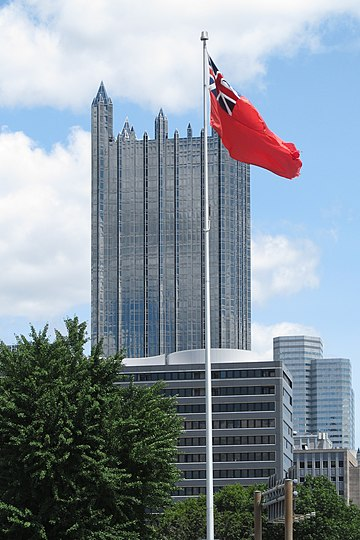 Colonial flag with One PPG Place