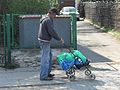 One man and & baby transport in Gdańsk.JPG