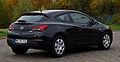 Opel Astra GTC 1.4 Turbo ecoFLEX Edition (J) – Heckansicht, 20. Oktober 2012, Heiligenhaus.jpg