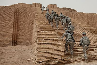 U S Sol Rs Ascend The Reconstructed Ziggurat Of Ur In May