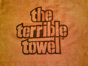Terrible Towel - Original commercially marketed Terrible Towel, sold exclusively by Gimbel's Department Store, 1976