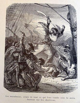 Oruç Reis - Oruç captures a galley.