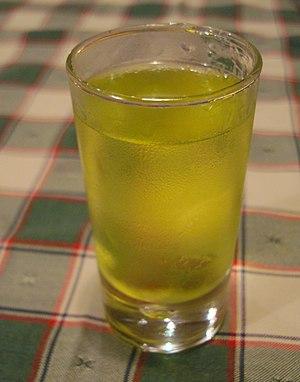 Orujo - A glass of Orujo de hierbas