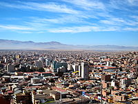City skyline or Oruro