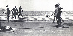Tenentism - 6 July 1922: The '18 of the Copacabana Fort revolt' on their way to confront army loyalists