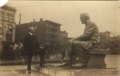 Osborn H. Oldroyd visiting Seated Lincoln statue.png