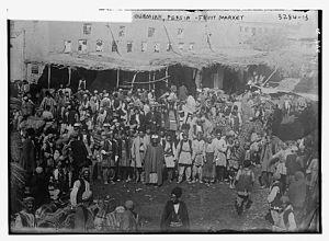 Urmia - Urmia Fruit Market, 1911.