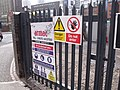 Outside New Street Station from Pinfold Street and Navigation Street - Think Safety and Danger Do Not Enter signs (4390031845).jpg