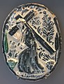Oval plaque with scene from Passion of Christ, Teruel, Spain, late 18th century AD, ceramic - Museo Nacional de Artes Decorativas - Madrid, Spain - DSC08226.JPG