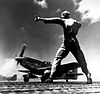 P-51 Mustang taking off from Iwo Jima.jpg