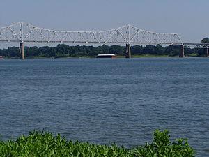 Cairo Ohio River Bridge - Image: P6190068(Cairo IL Ohio R Bridge)