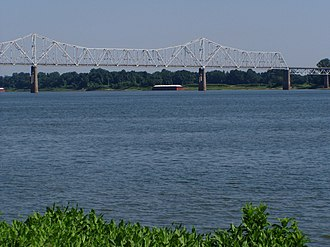 Cairo Ohio River Bridge - Image: P6190068(Cairo IL Ohio R Bridge)