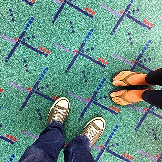 Portland International Airport carpet - Portland International Airport's original carpet design in 2015.