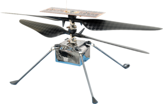 Mars Helicopter <i>Ingenuity</i> Rotorcraft manufactured by the Jet Propulsion Laboratory for the Mars 2020 mission, capable of flight on Mars