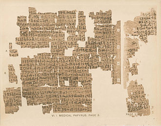 Kahun Gynaecological Papyrus - Part of page 2 and page 3 of the Kahun Gynaecological Papyrus