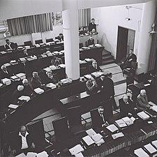 PM address the Knesset 1964