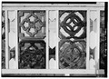 PORCH, DETAIL OF PIERCED TILE INSERTS - Fryer's Cottage, 9 Perry Street, Cape May, Cape May County, NJ HABS NJ,5-CAPMA,60-2.tif