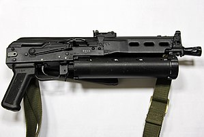 The PP-19 Bizon with stock folded