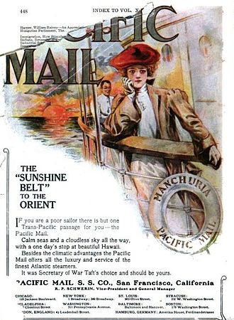 Pacific Mail Steamship Company - 1906 Advertisement from The World Today magazine