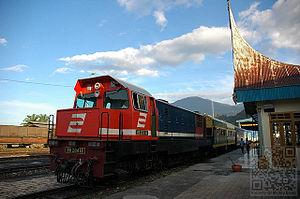 Sawahlunto - Padang Panjang - Sawahlunto tourism train.