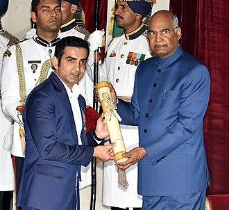 Gautam Gambhir - The President, Shri Ram Nath Kovind presenting the Padma Shri Award to Shri Gautam Gambhir, at an Investiture Ceremony, at Rashtrapati Bhavan, in New Delhi on March 16, 2019