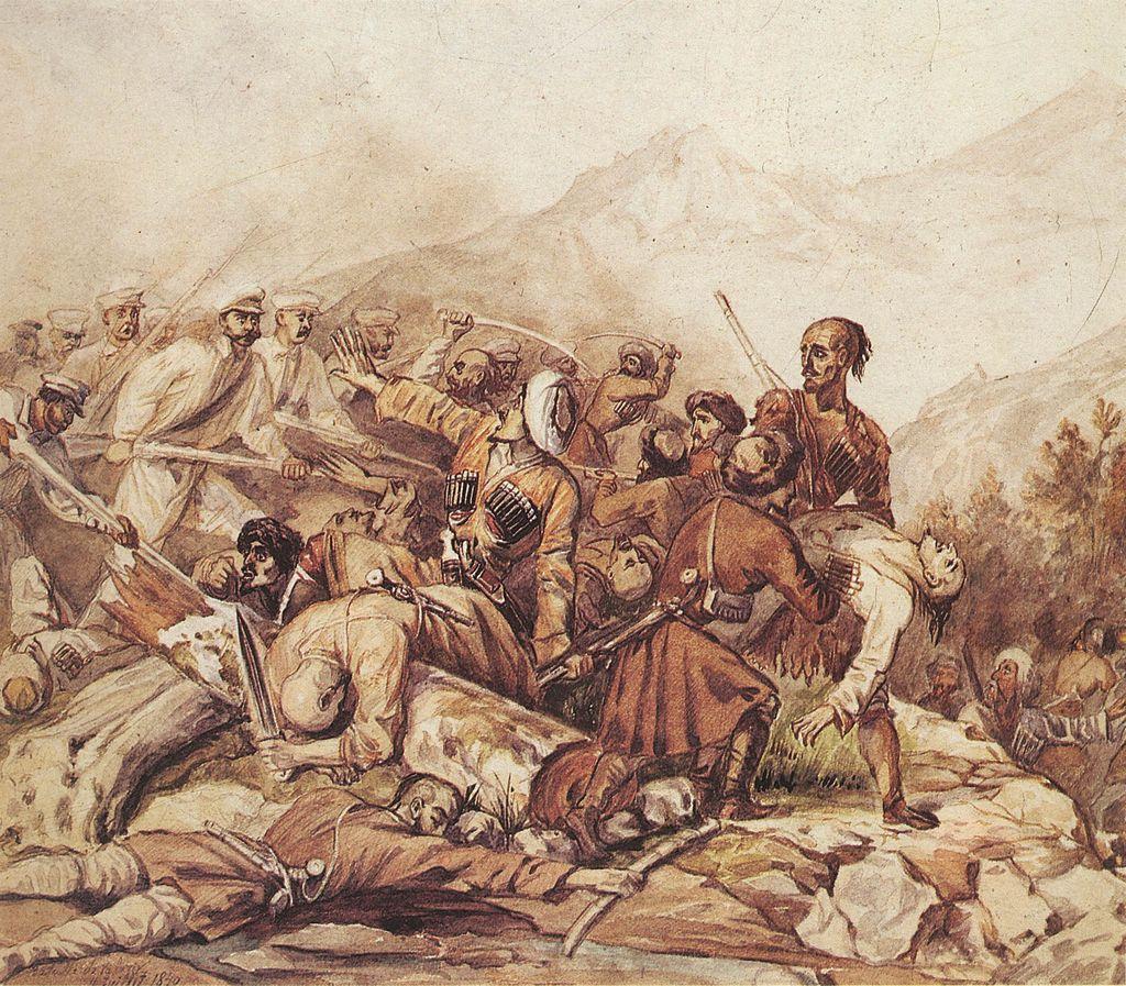 Картины Михаила Лермонтова, 1840 год, Valerik.jpg