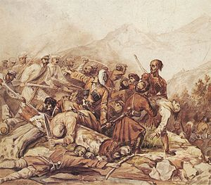 Paintings by Mikhail Lermontov, 1840, Valerik.jpg