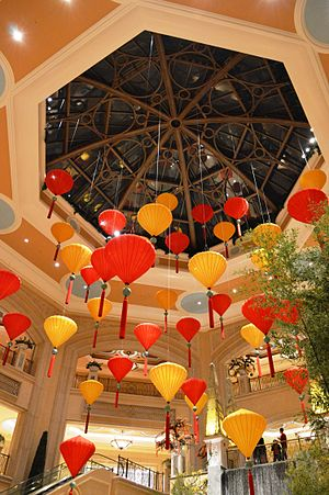 The Palazzo - Hanging umbrellas in the Palazzo