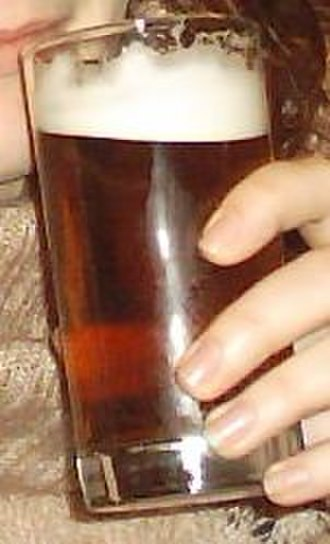 Pale ale - A glass of bitter, a form of pale ale