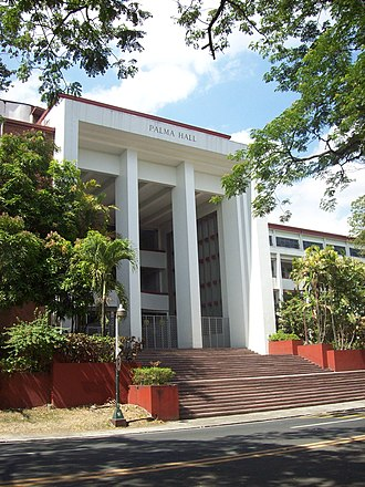 University of the Philippines Diliman - The Palma Hall, more commonly known as A.S., now houses the College of Social Sciences and Philosophy. It was named after Rafael Palma, the 4th President of the University.