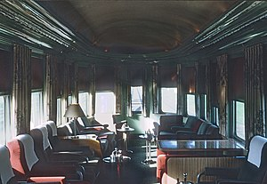 Panama Limited - The interior of the Panama Limited in 1964