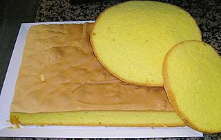 Italian sponge cake named after the city of Genoa