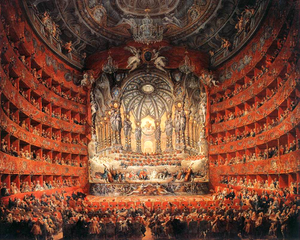 Teatro Argentina - The Teatro Argentina (Panini, 1747, Musée du Louvre)