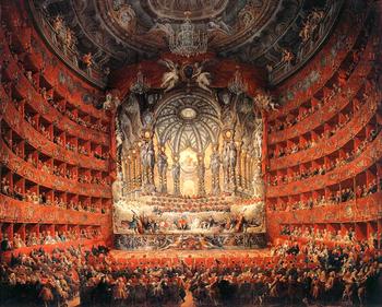 The Teatro Argentina (Panini, 1747, Musée du L...