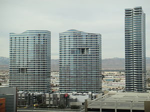 The Martin - The Martin (right) alongside Panorama Towers, March 2010.