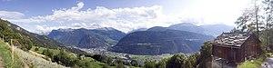 Visp - Image: Panorama Visp