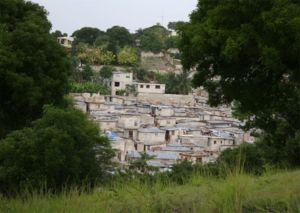 2010 Haiti cholera outbreak - Poor neighborhood in Port-au-Prince