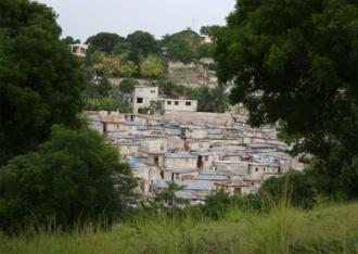 2010 Haiti cholera outbreak - Poor neighborhood in Port-au-Prince