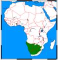 Parahyaena brunnea range map.png