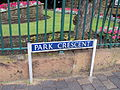 Park Crescent sign, Southport.JPG