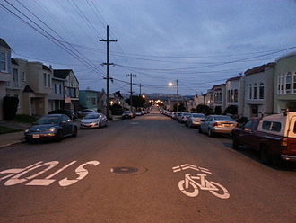 Parkside, San Francisco - Santiago and 34th Ave., looking south