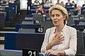 Parliament elects Ursula von der Leyen as first female Commission President (48300816421).jpg
