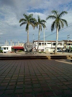 Parque principal de municipio de Sampués Sucre Sabanas.jpg