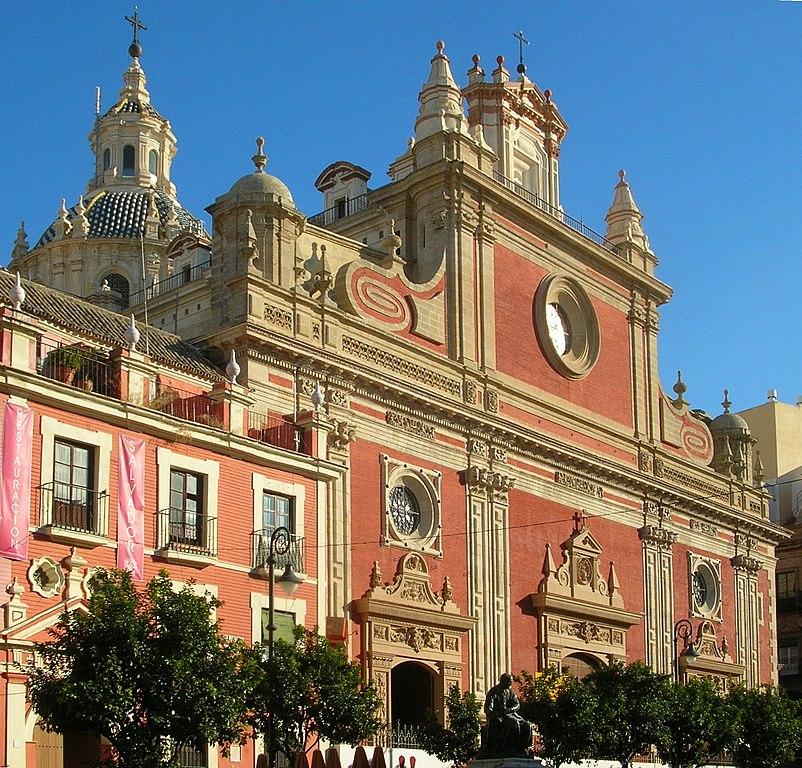 Façade de l'église Divino Salvador (Divin Sauveur) à Séville - Photo de Grez.