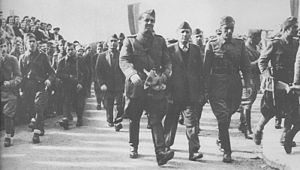 People's Socialist Republic of Albania - Partisans entering Tirana on 29 November 1944