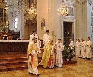 Paul Cremona - Mgr Cremona in Bologna, at Basilica of San Domenico, July 3, 2007