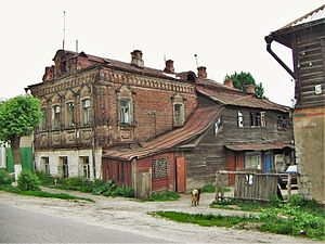 Pavlovsky Posad - A typical house in Pavlovsky Posad